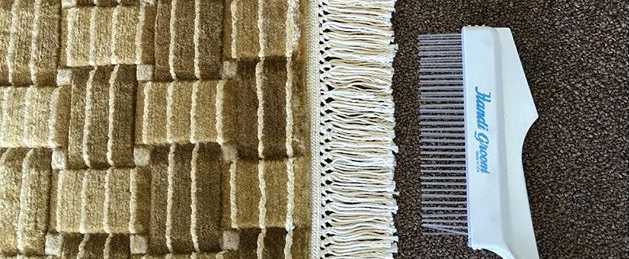 Can I use bleach to clean my rug fringes?